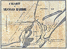 Chart of Aransas Harbor 1859