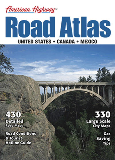 North America Medium Interstate Road Atlas