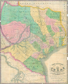 General Austin's Map of Texas 1840